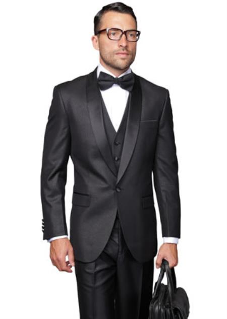 Blacked Lapel Two Toned