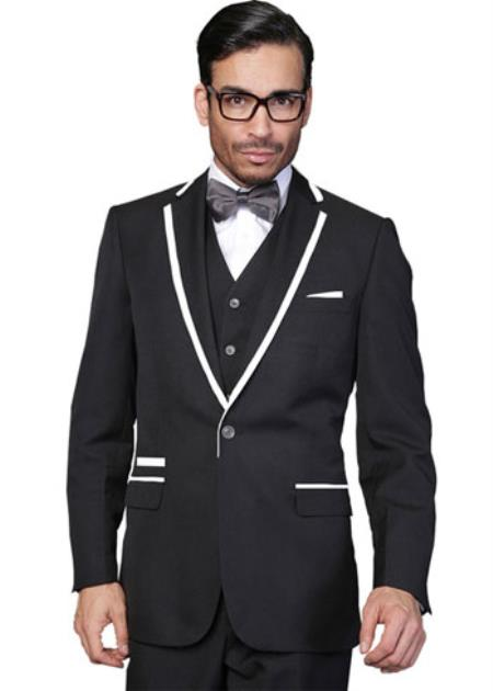 Two Toned Lapel Venetian
