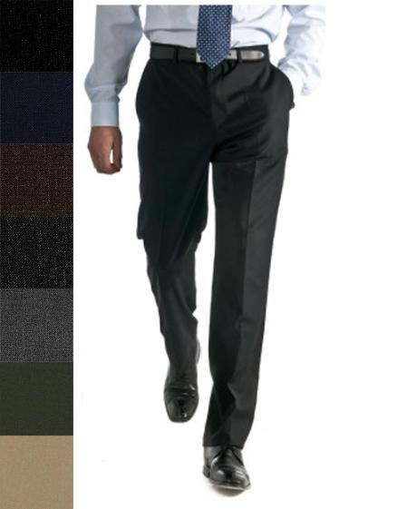 Beautiful Wool Blend Slacks By All Sizes and Colors unhemmed unfinished bottom