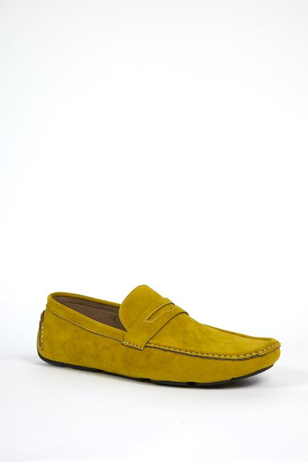 Dress Shoes Gold Yellow