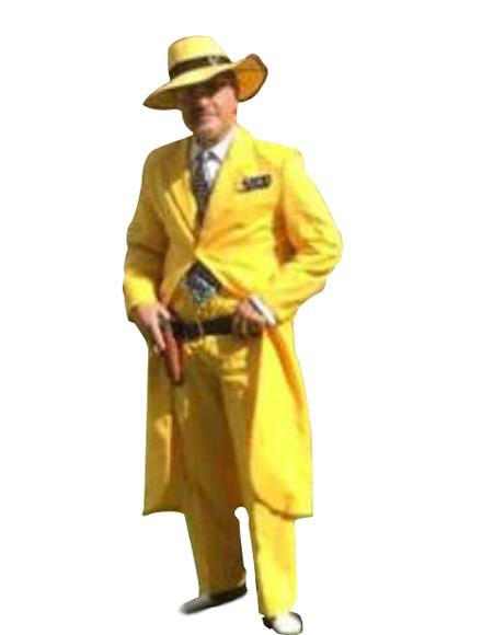Yellow ~ Gold Zoot Suit With Matching Vest