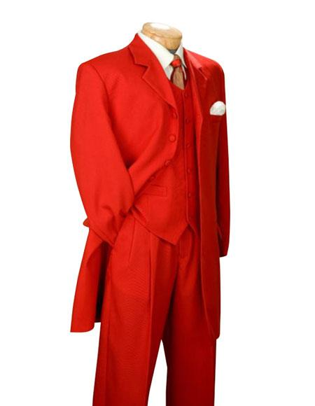 Fashionable Fire Engine Mens Red Suit Mens Zoot Suits $139(Wholesale Price available)