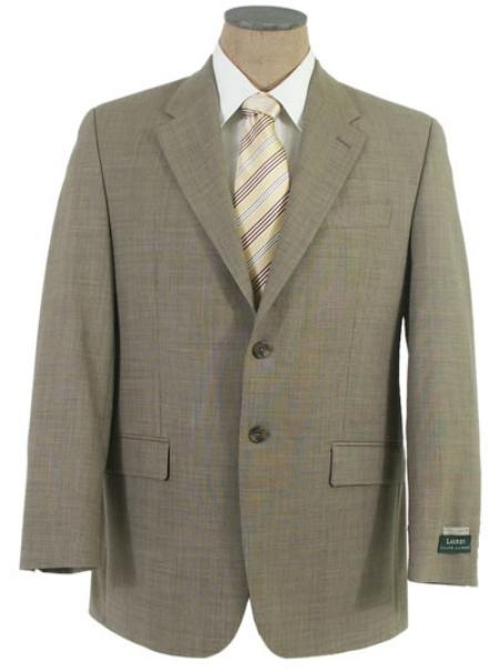SKU# WXL872 Mens 2 Button Conservativly weaved Tuape Shark Skin Super Wool Business Suit $159