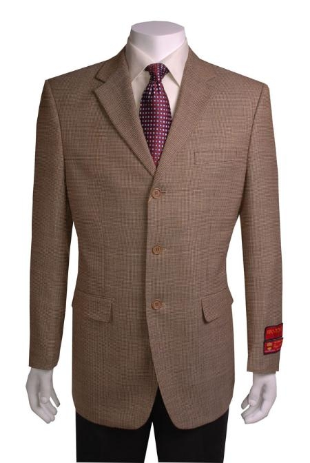 SKU#RF931 Mens 3-button Taupe Sport Coat $179