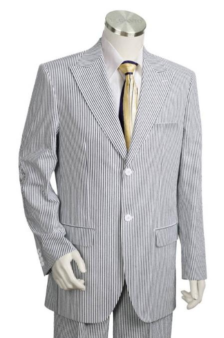 SKU#UI1542 Mens 3 Buttons Suit Style Comes in White Black $185