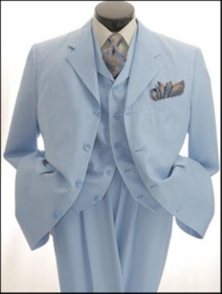 SKU#GI711 Mens 4 Button, Striped Jacket Fashion Suit $169
