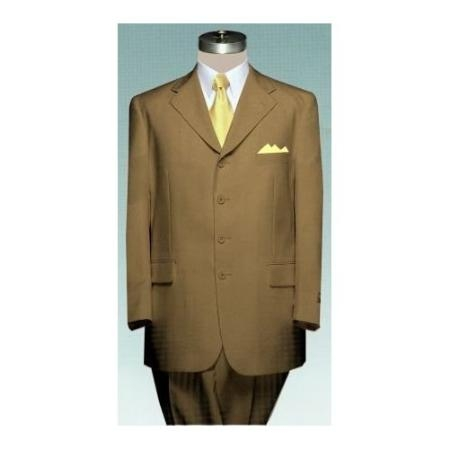 SKU#AY34 Mens 4 (four) button Single breasted BRONZE Double Pleated Fully Lined Suit $139