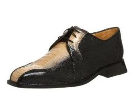 Belvedere Mens Atlanta Oxford Made of Ostrich Black $319