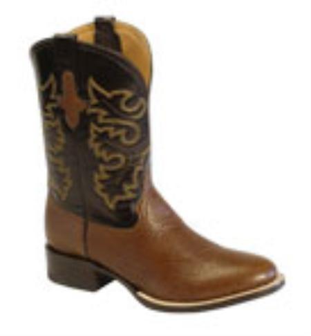 SKU#LO716 Mens Black Bullhide Leather F-Toe Boots