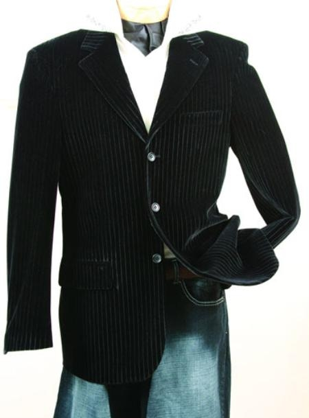 SKU#KR646 Mens Black Fashion Sport Coat $99