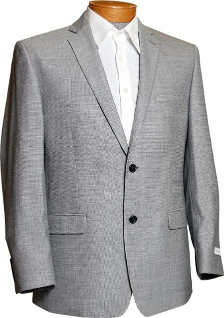 SKU#HD2086 Mens Black & White Tweed 2 Button Designer Sports Jacket $149