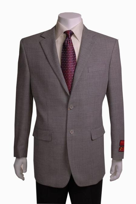 SKU#GN556 Mens Black/ White Birdseye Blazer 2 Button Wool $139