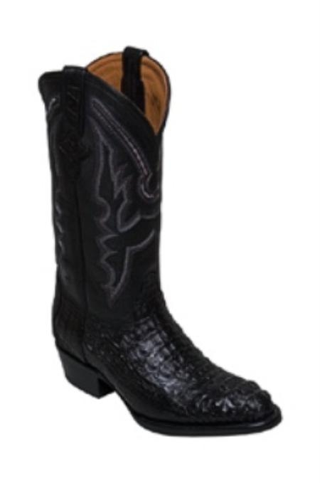 SKU#KA972 Mens Boots caiman ~ alligator in Black Medium Round Toe $399