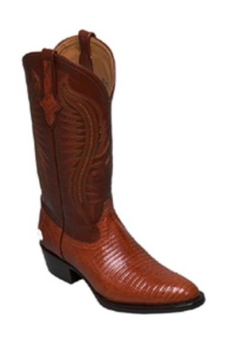 SKU#NH678 Mens Boots Lizard in Copper~Rust~Cognac $219