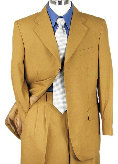 SKU#BM2936 Mens Bronze Single Breasted Dress cheap discounted Suit $79