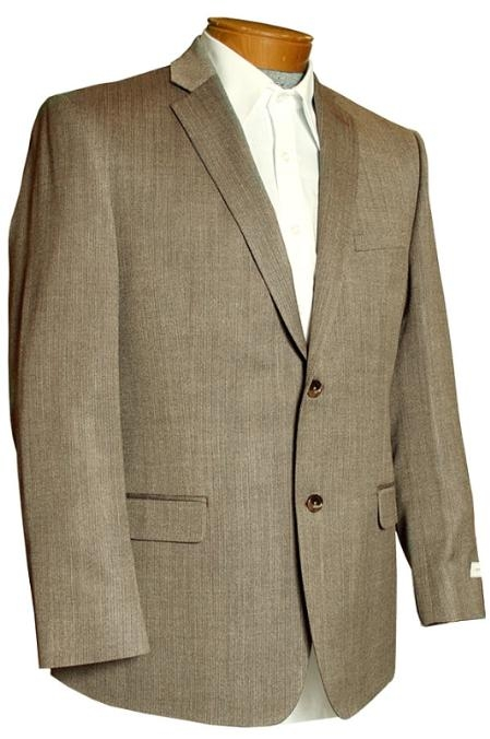 SKU#KP1088 Blazer Coat Mens Brown 2 Button Designer Sports Jacket $149