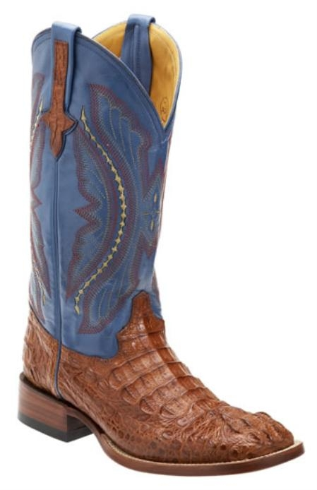 SKU#SH745 Mens caiman ~ alligator Square Toe Western Boots $357