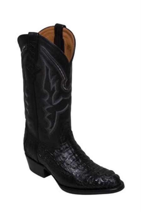 SKU#PI143 Mens caiman ~ alligator body western boots