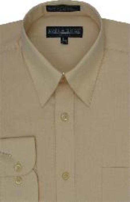 SKU#BM118 Mens Canary Dress Shirt
