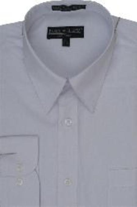 SKU#BK311 Mens Convertible Cuffs White Dress Shirt $29