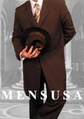 SKU# HJF234 Mens Darkest CoCo Brown Fashion Long Zoot Suit $159