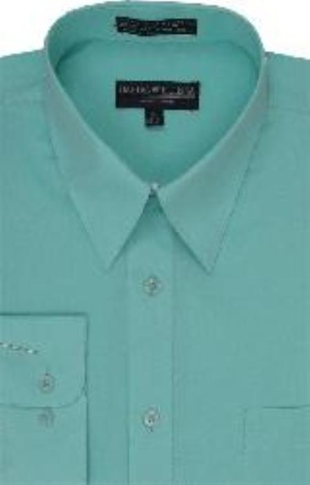 SKU#HJ717 Mens Dress Shirt Mint