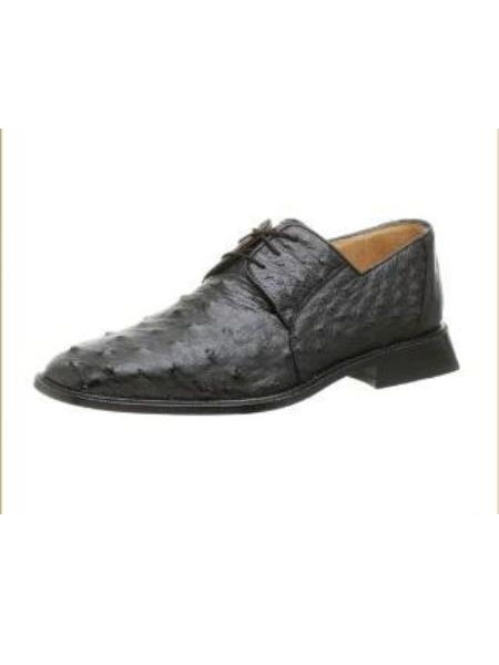 Belvedere Mens Fabio Oxford Made of Ostrich Black