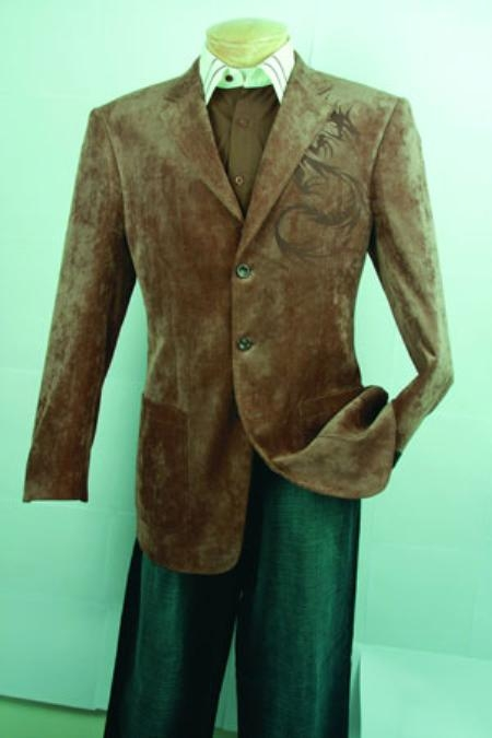 SKU#HY826 Mens Fashion Sport Coat Brown $99