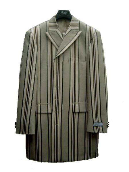 SKU#RQ78970 Mens Fashion Zoot Suit Green $125