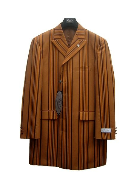 SKU#ZP39082 Mens Fashion Zoot Suit Rust $125