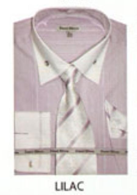 SKU#UC534 Mens French Cuff Dress Shirt Lilac $65