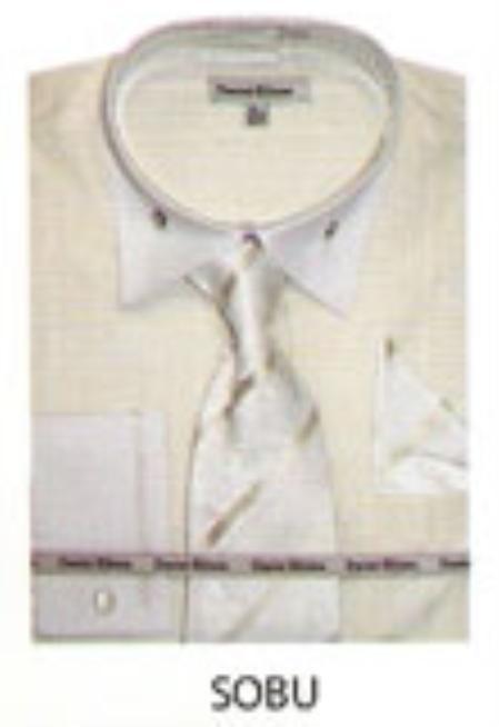 SKU#XB634 Mens French Cuff Dress Shirt Sobu $65