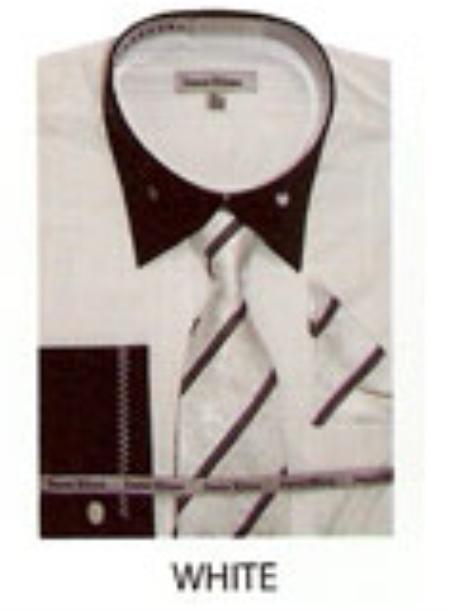 SKU#RC535 Mens French Cuff Dress Shirt White $65