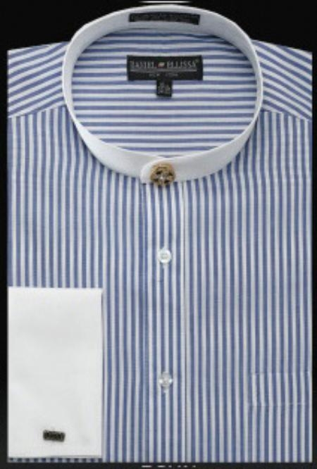 SKU#YV063 Mens French Cuff Shirt Royal $49