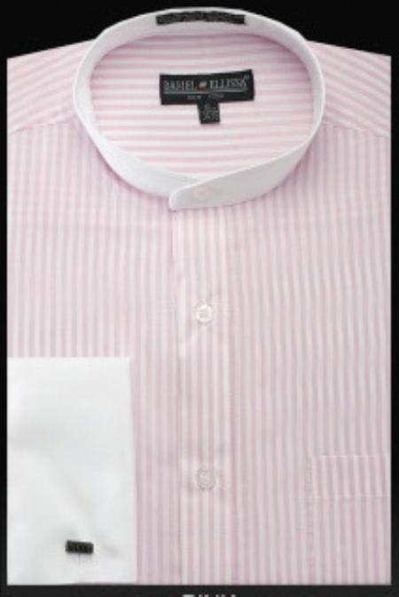 SKU#SY654 Mens French Cuff Shirt Pink $49