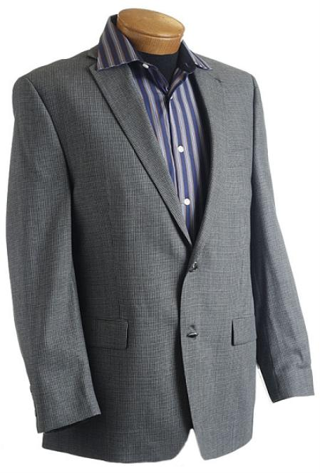 SKU#XP7886 Mens Gray Designer Classic Tweed houndstooth Sports Jacket