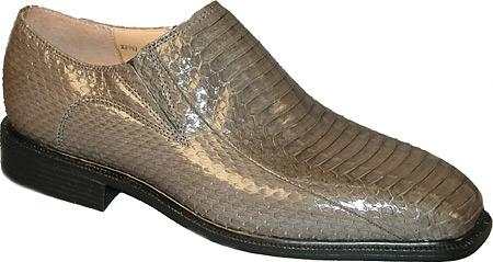SKU# EBO872 Mens Gray Genuine Snake 15521 Plain toe slip $139