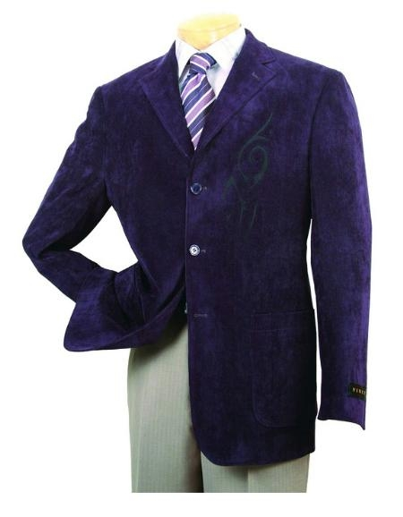 SKU#HJ753 Mens High Fashion Purple Sport Coat $499