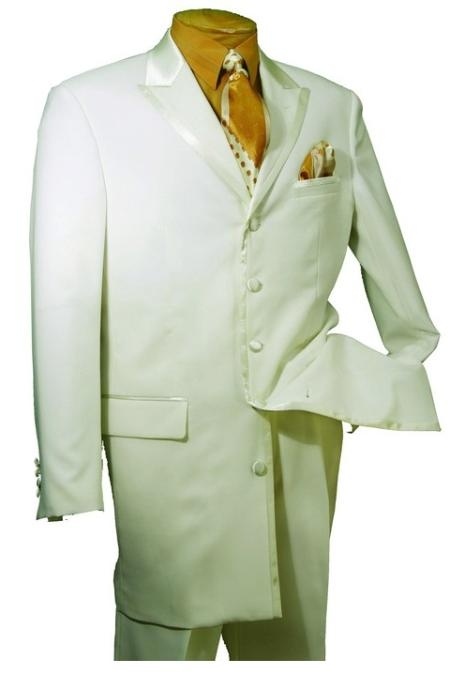 SKU#BT579 Mens High Fashion 5 Button Cream Tuxedo $139