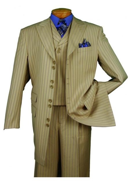 SKU#SB794 Mens High Fashion Sage 3-Piece Suit $139