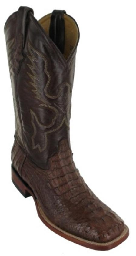 SKU#SD721 Mens Hornback alligator in Brown Square Toe $399