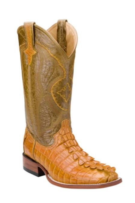 SKU#AA713 Mens Hornback Nile Crocodile ~ Alligator western boots $546