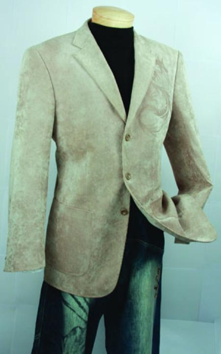 SKU#NQ926 Mens Khaki Fashion Sport Coat $99