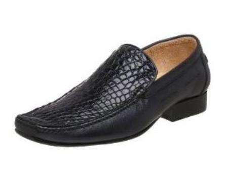 Belvedere Mens Leone Slip On Calf Skin Cummin Navy $299