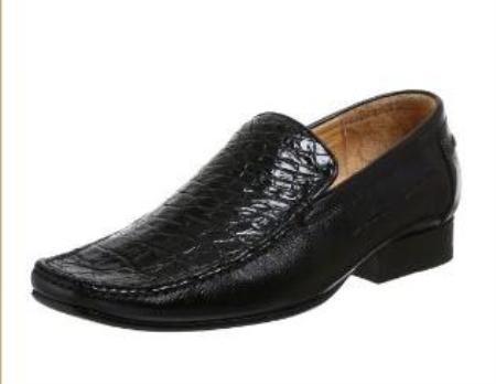 Belvedere Mens Leone Slip On Calf Skin Cummin Black $299