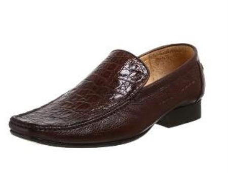 Belvedere Mens Leone Slip On Calf Skin Cummin Brown $299