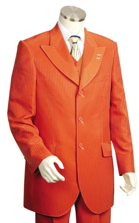SKU#UI3578 Mens Long Zoot Suit in Burned Orange