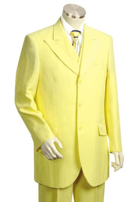 SKU#HG1412 Mens Long Zoot Suit in Yellow $199