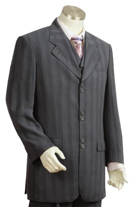SKU#TV5241 Mens Long Zoot Suits in Dark Gray $199