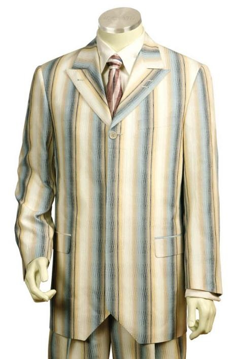 SKU#GF2412 Mens Long Zoot Suits in Lemon Chiffon $149